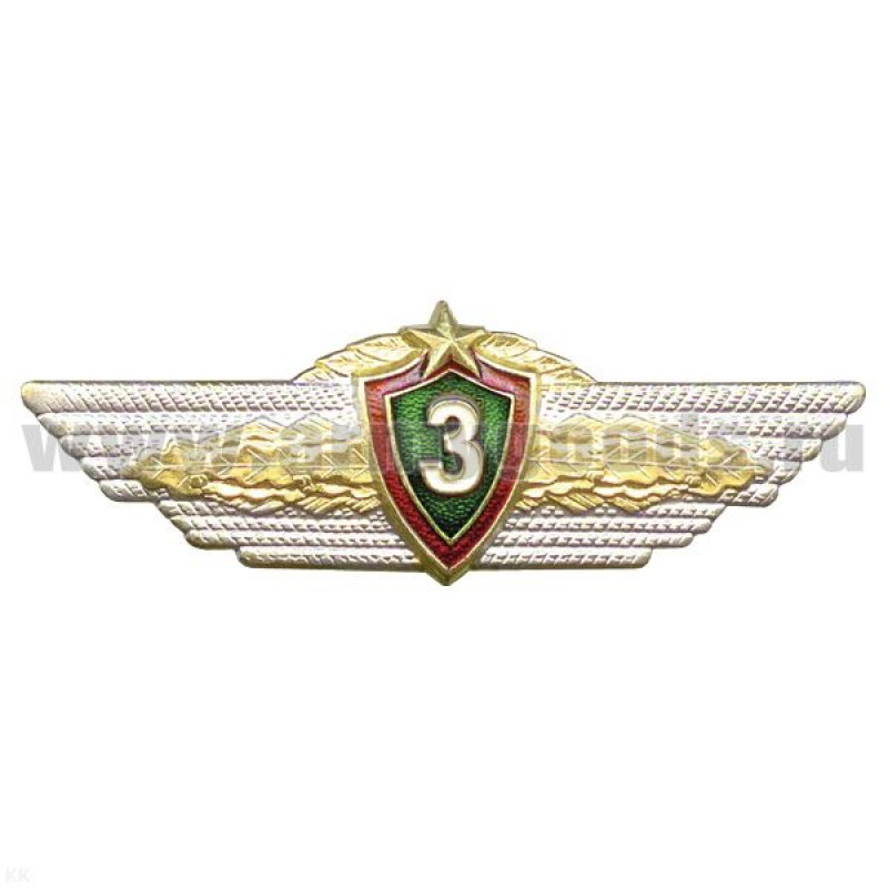 Значок Классность офицера ВС РБ 3 класс