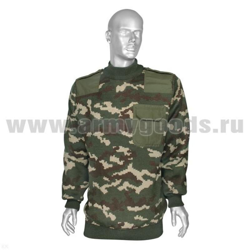 Джемпер (свитер) с накладками кмф