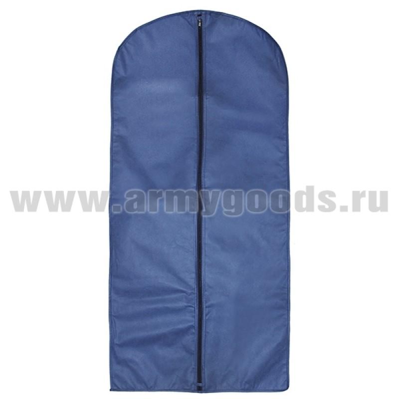 Чехол для одежды (спанбонд) 60*135 синий
