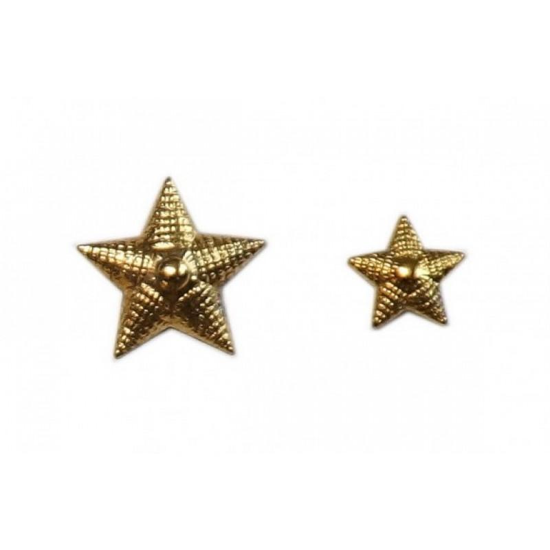 Звезда на погоны ОВ армейская рифленая малая Ф13