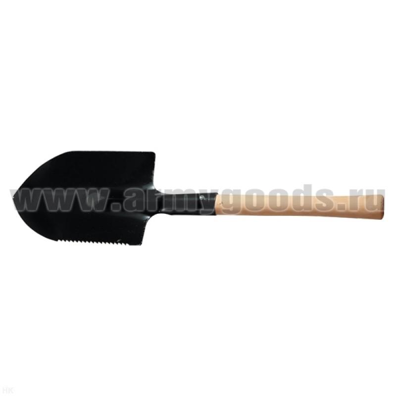 Лопата туристическая с деревянной ручкой