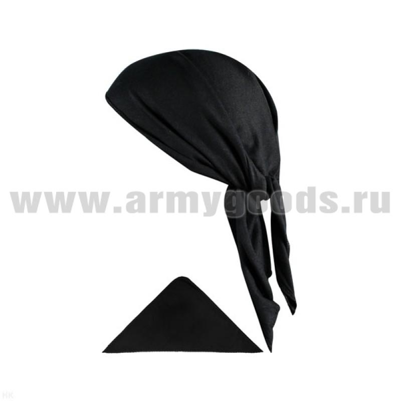 Бандана кулирка (треугольная) черная