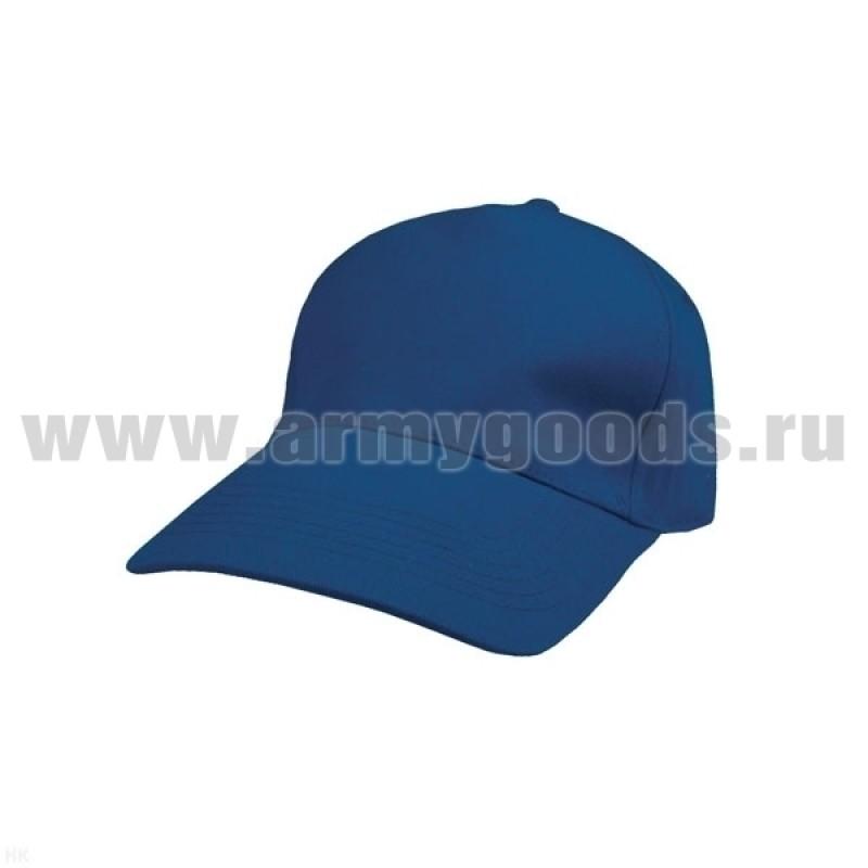 Бейсболка ярко-синяя