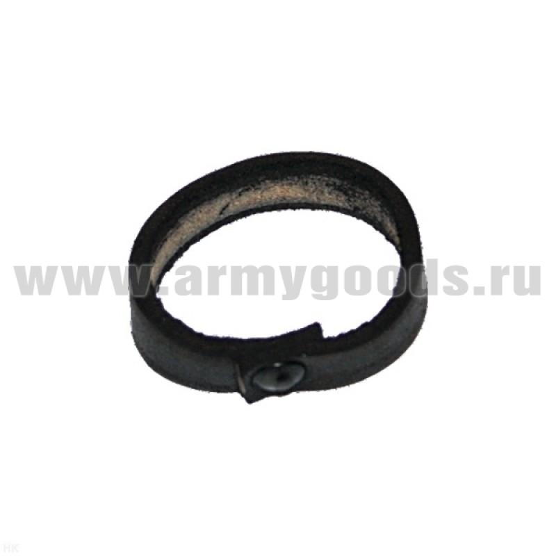 Шлевка (колечко-тренчик) для ремня кожаная черная