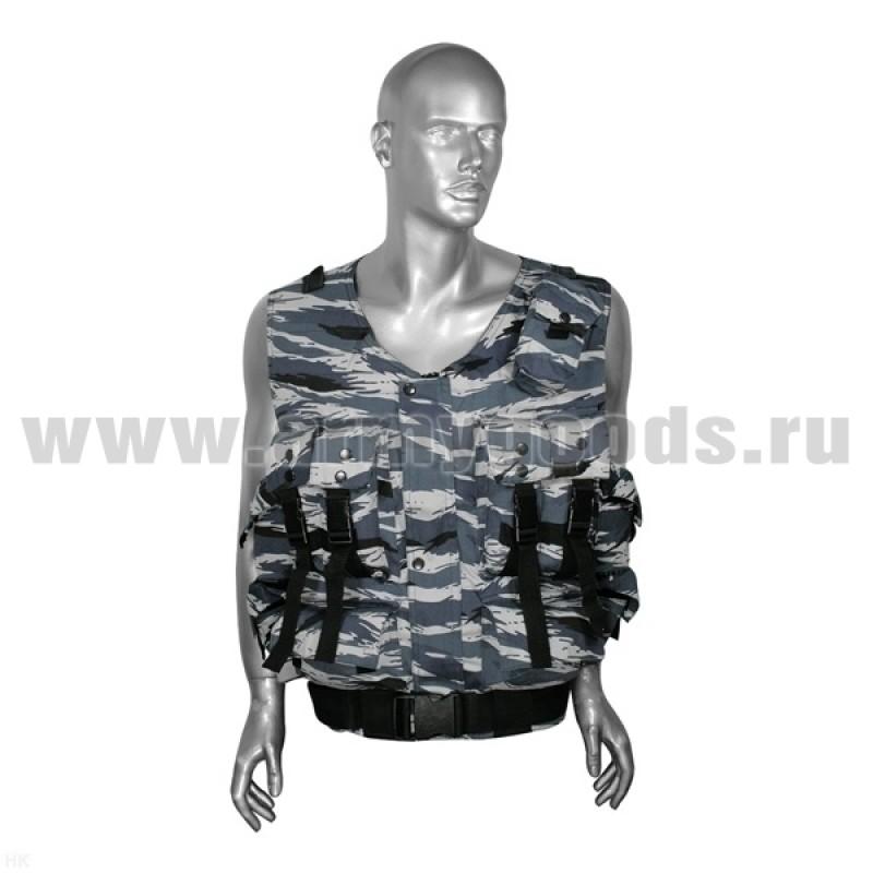 """Жилет разгрузочный ОМОН """"камыш"""" серый (ткань """"гретта"""")"""