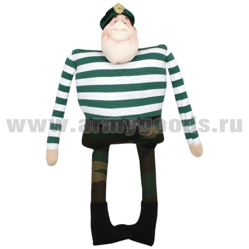 Кукла мягкая Пограничник в зеленой тельняшке (выс. 36 см)