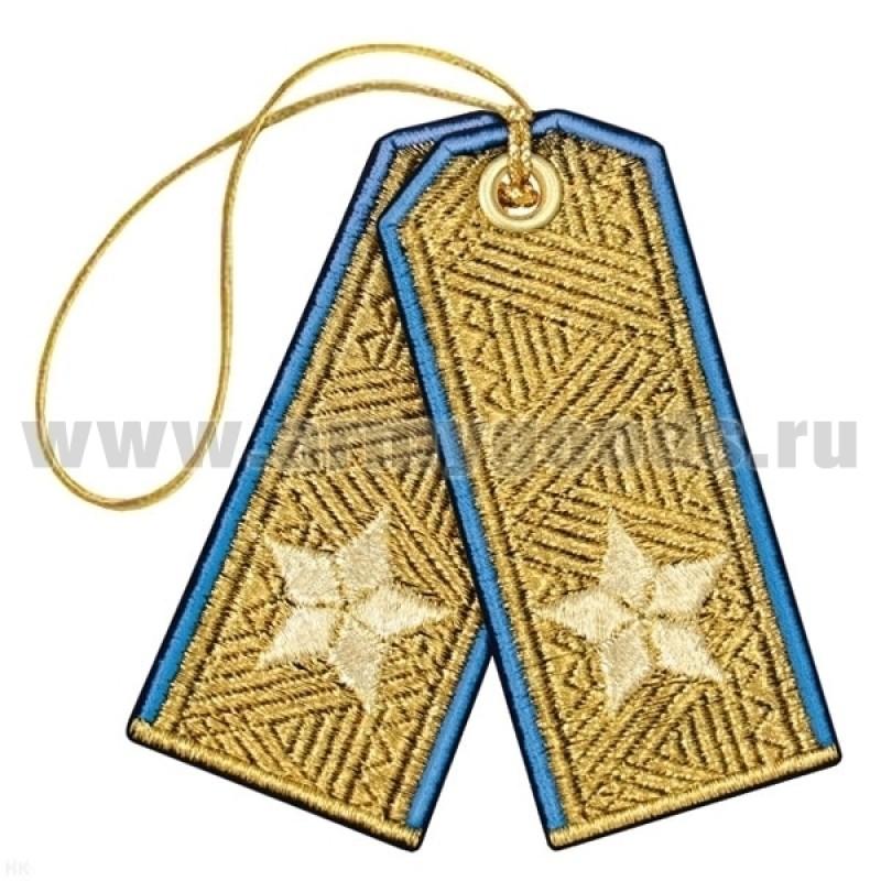 Брелок вышитый Погончики ВДВ парадные (генерал-майор)