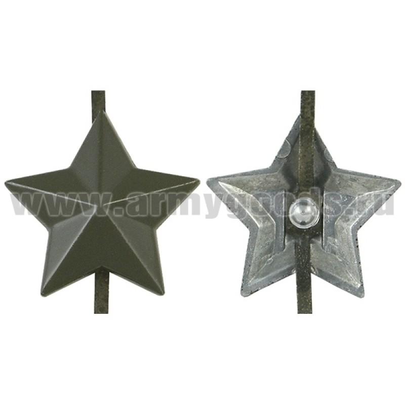 Звезда на погоны мет. 20 мм защ. (сплав ЦАМ; аналог латунной)