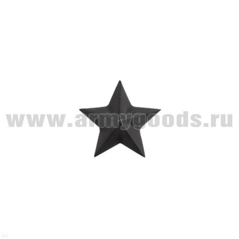 Звезда на погоны пласт. 13 мм черн.