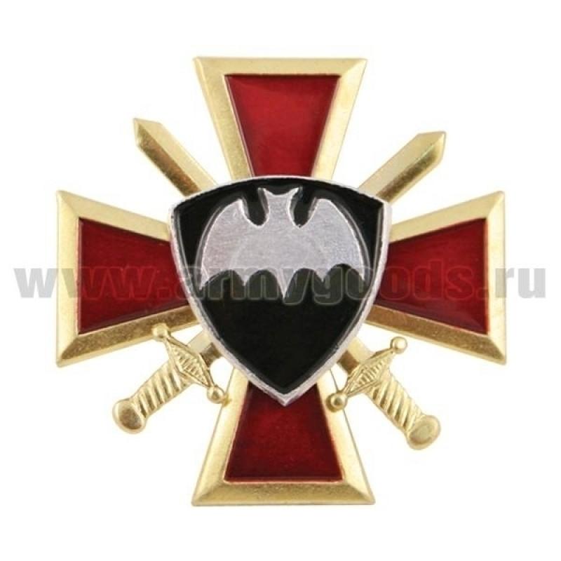 Значок мет. Летучая мышь ВВ (крест и мечи)