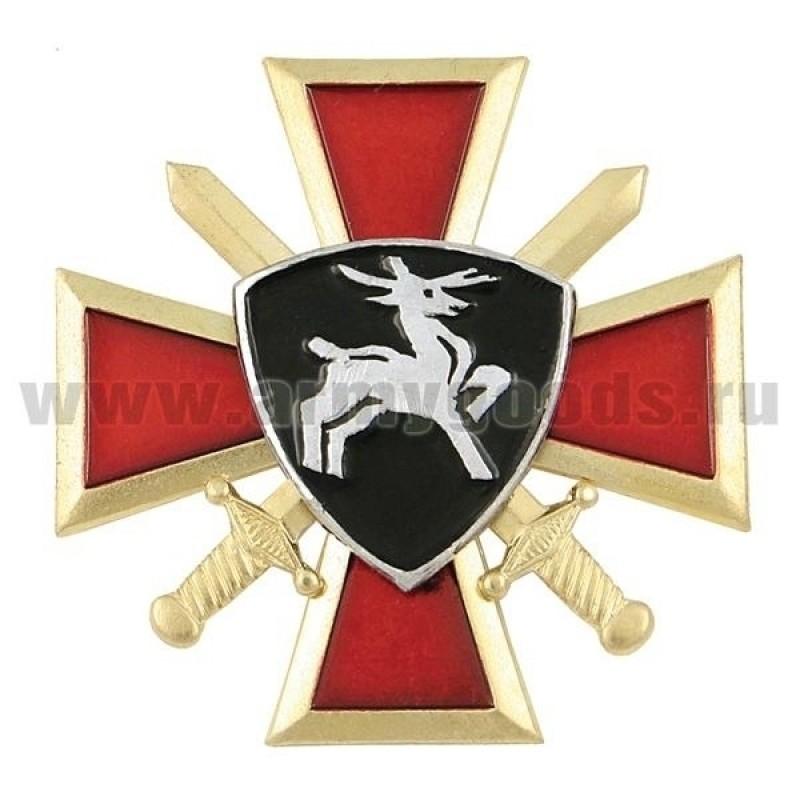 Значок мет. Олень ВВ (крест и мечи)
