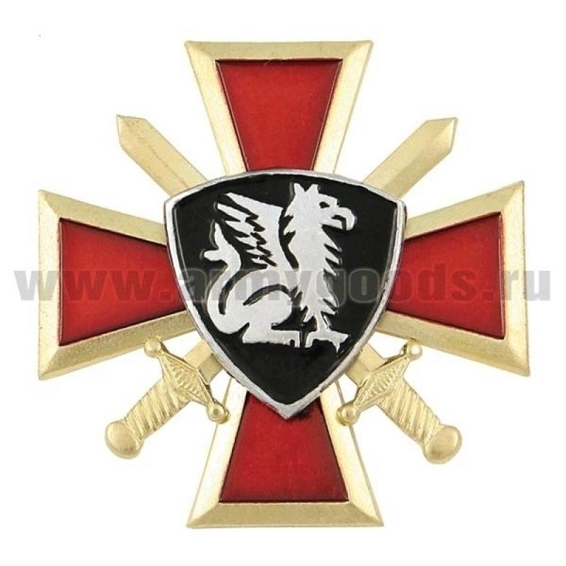 Значок мет. Грифон ВВ (крест и мечи)