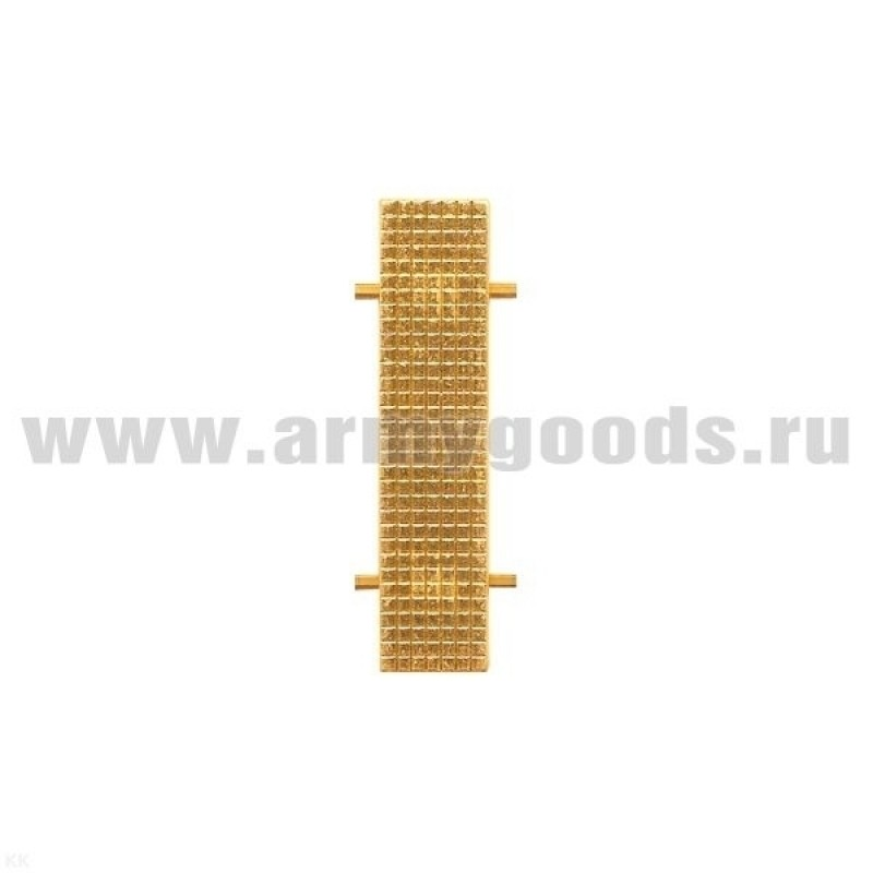 Лычка МВД 10x45 мм золотистый цвет.
