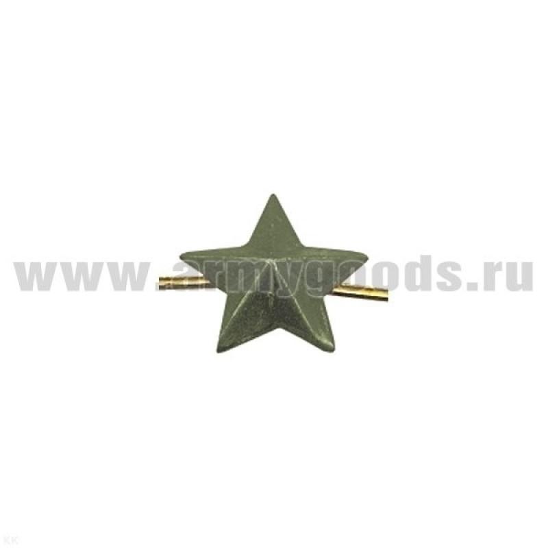 Звезда на погоны ф13 мм (олив.)