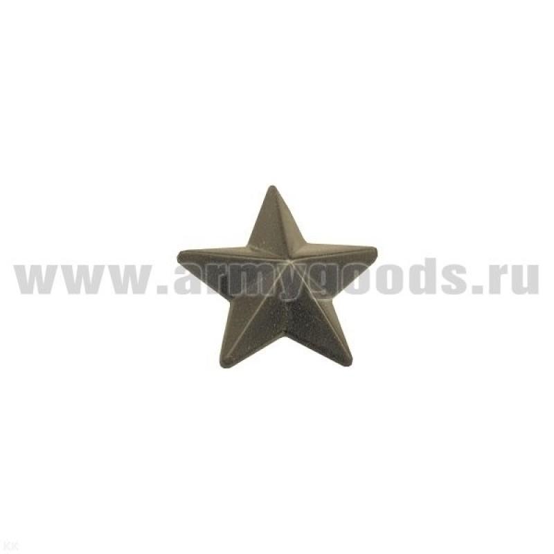 Звезда на погоны пластмассовая 13 мм