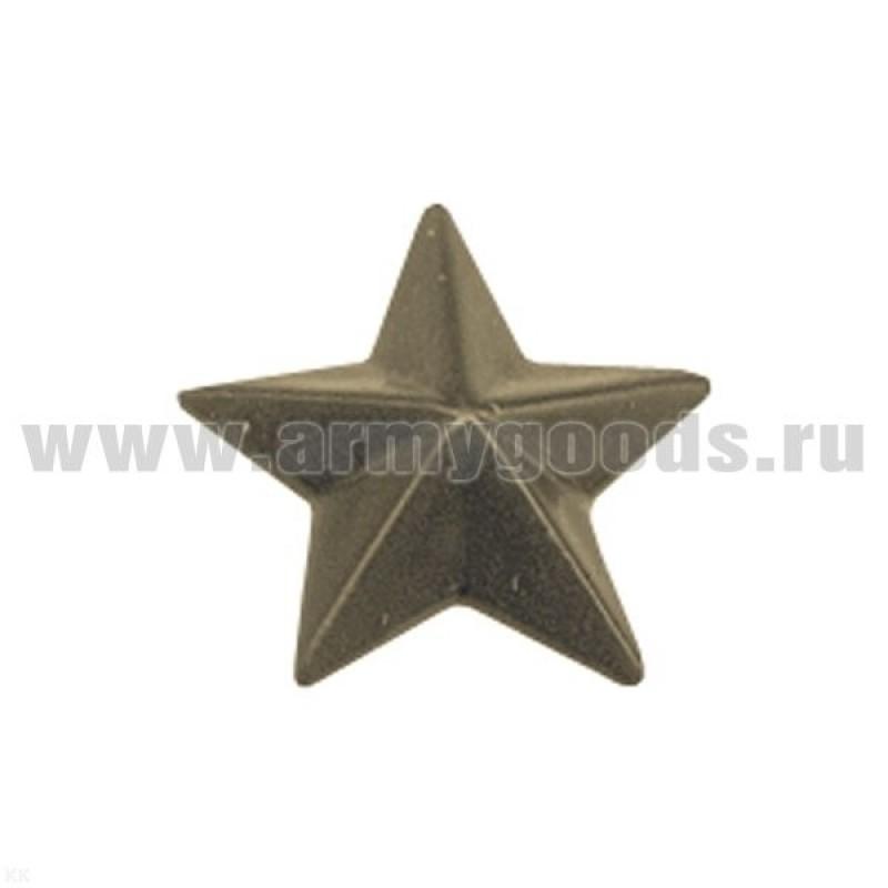 Звезда на погоны пластмассовая 20 мм защ.